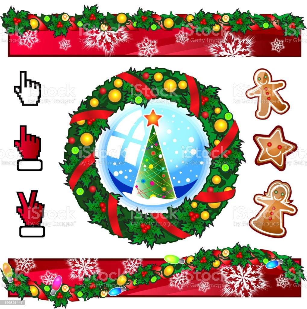 Christmas design set vector art illustration