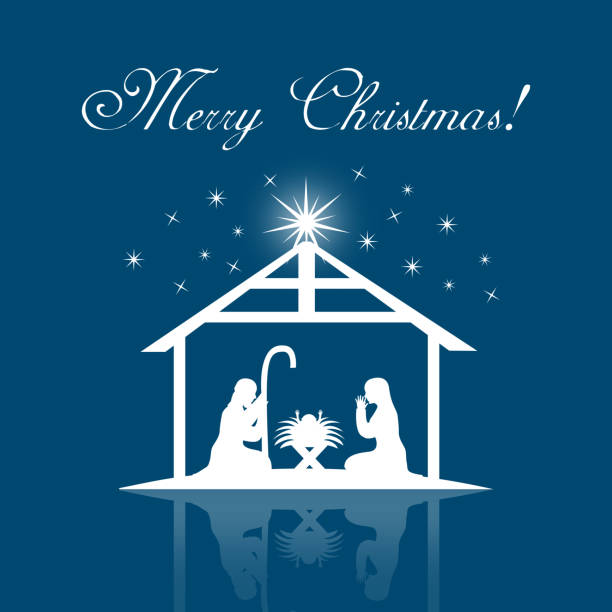 Nativity Scene Clip Art, Vector Images & Illustrations ...