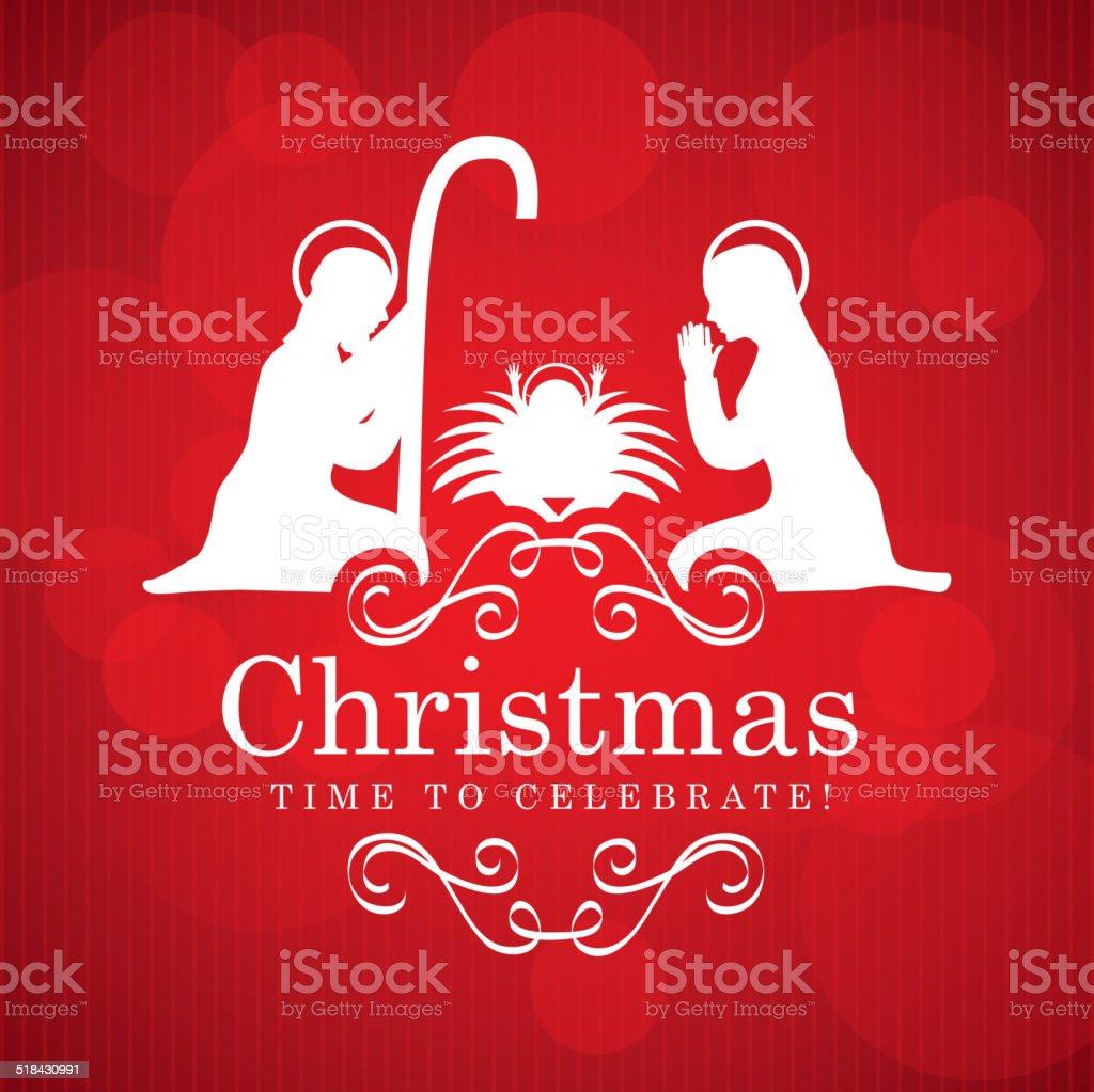 christmas design vector art illustration