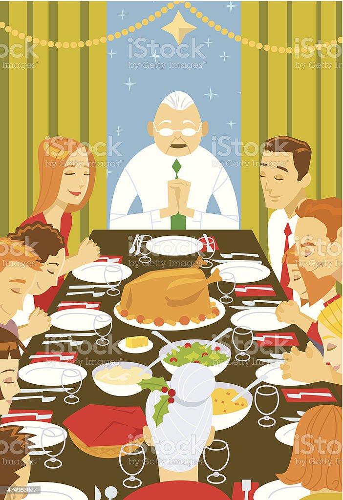 Christmas Dinner C vector art illustration