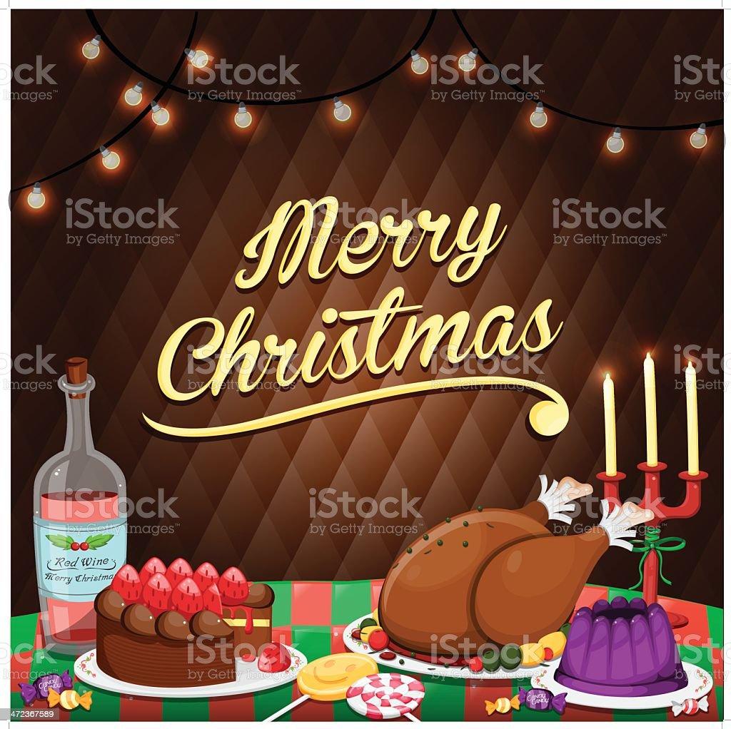 Christmas Dinner!! royalty-free stock vector art