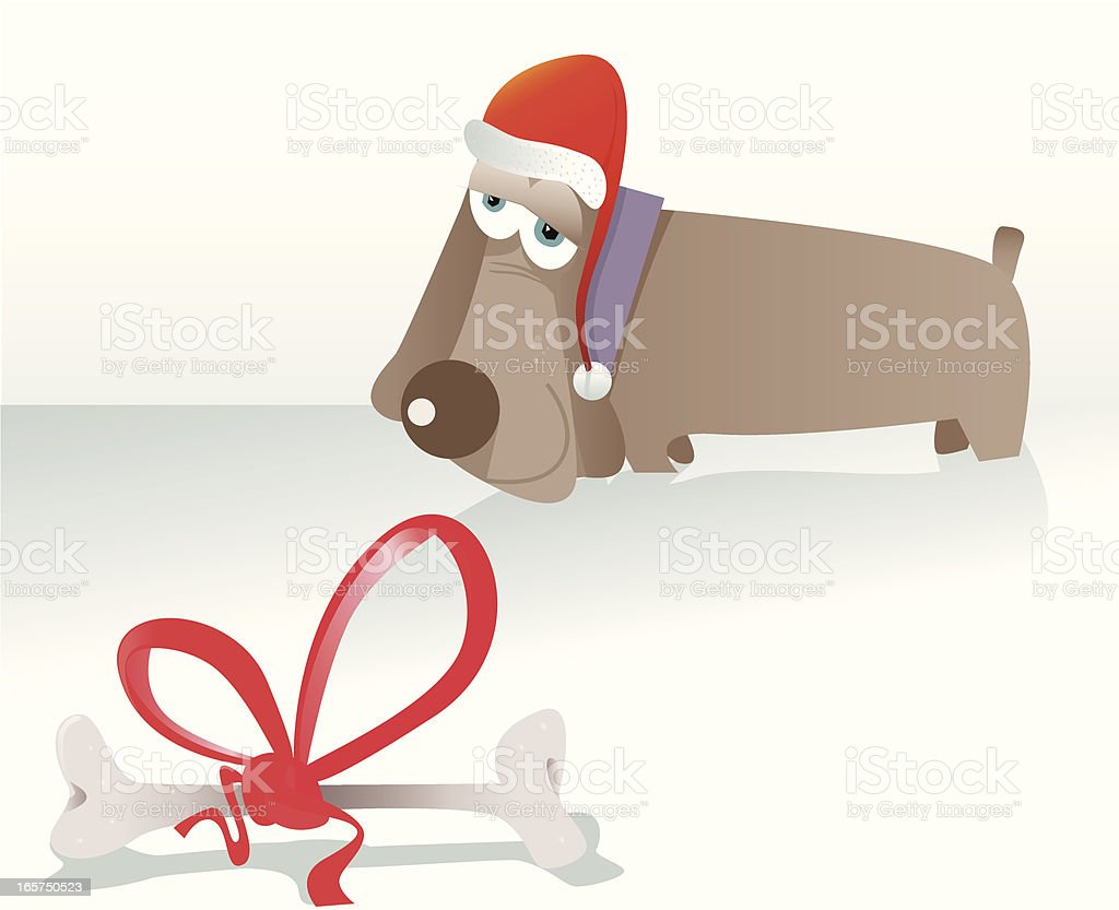 Christmas Dog royalty-free stock vector art