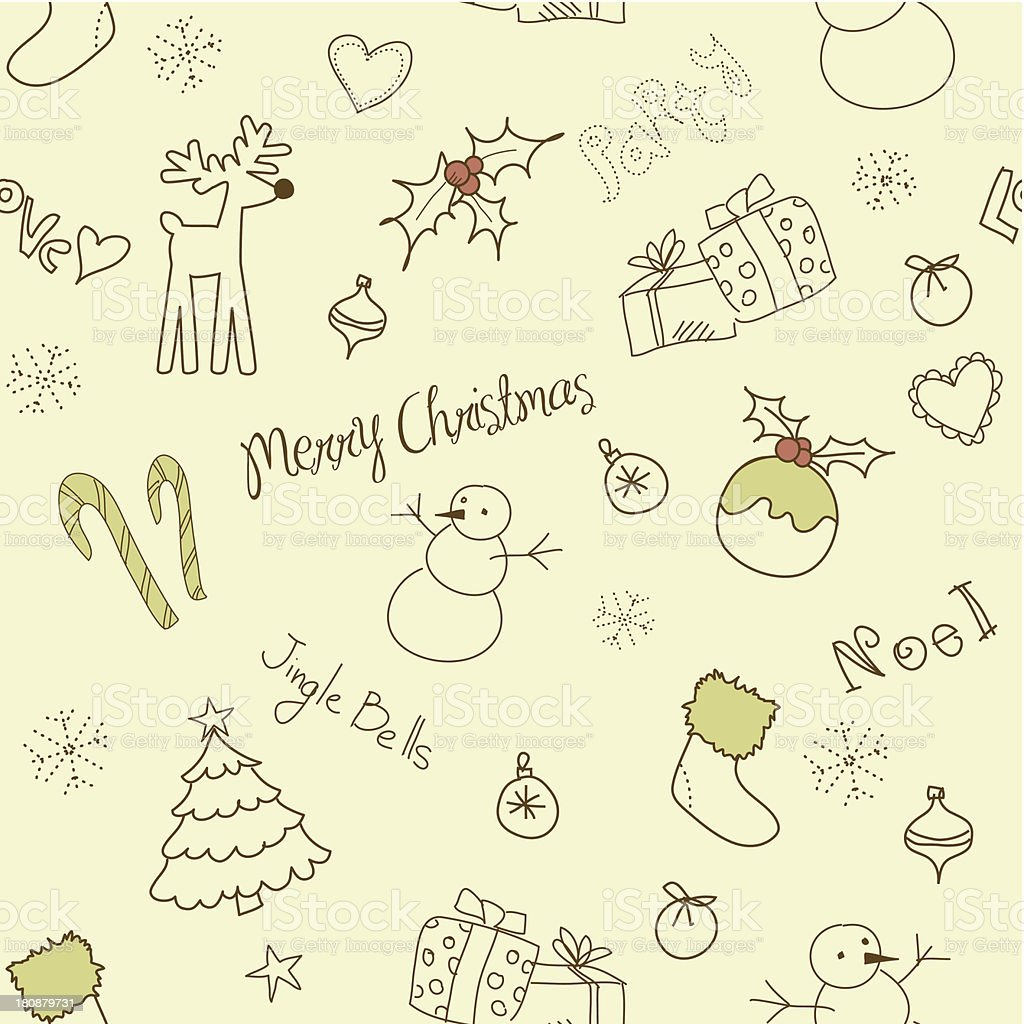 Christmas doodles royalty-free stock vector art