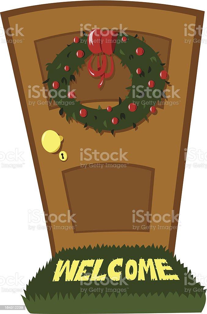 Christmas Door royalty-free stock vector art