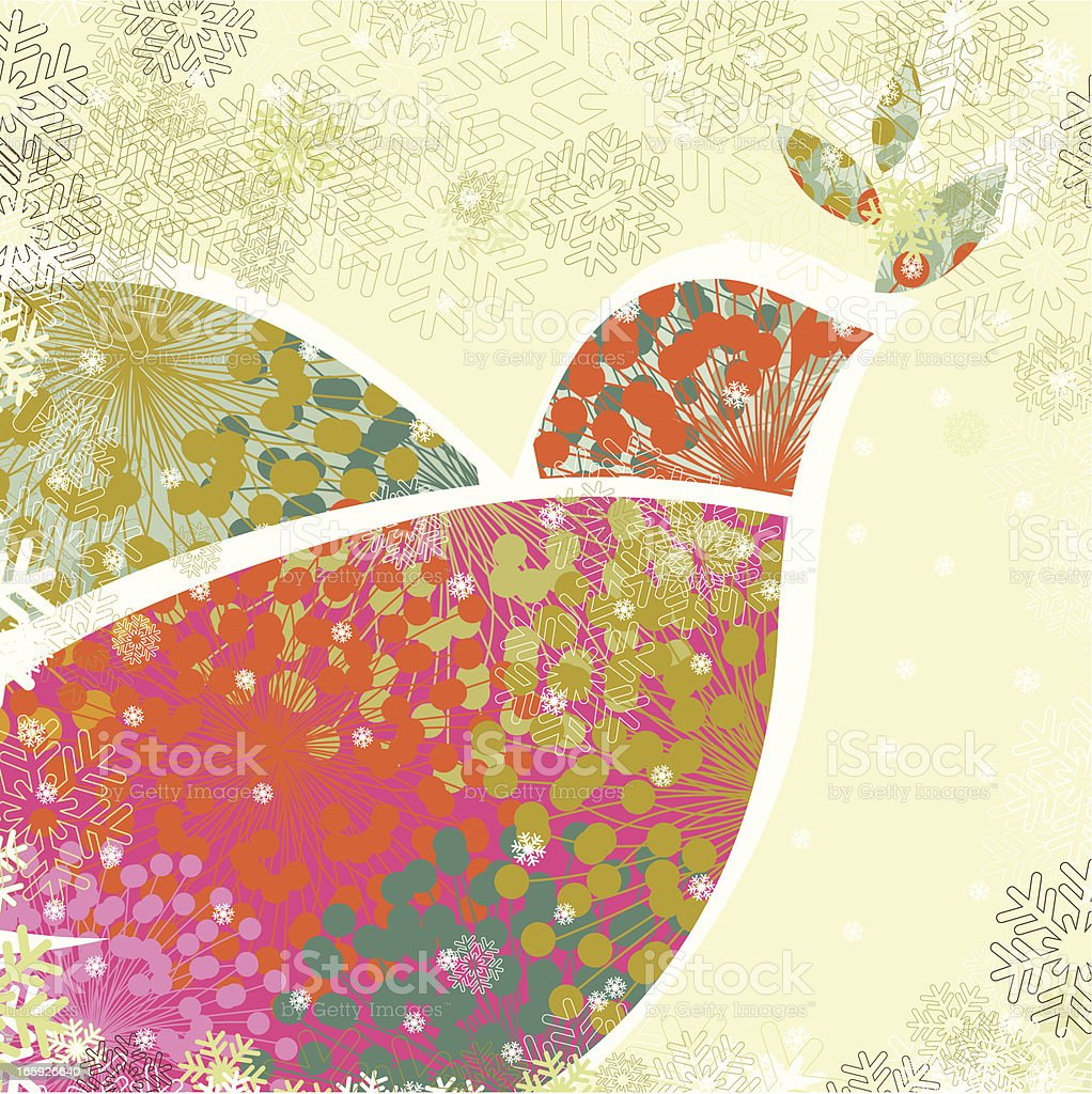 Christmas dove of peace vector art illustration