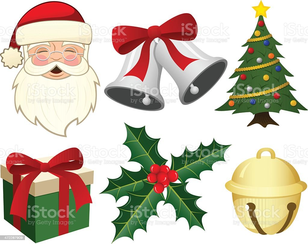Christmas Elements vector art illustration