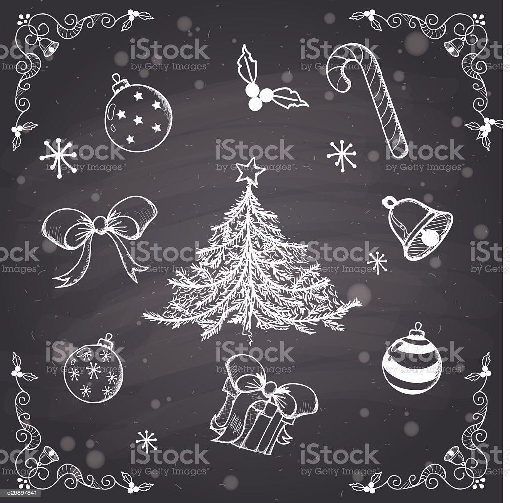 Éléments de Noël stock vecteur libres de droits libre de droits