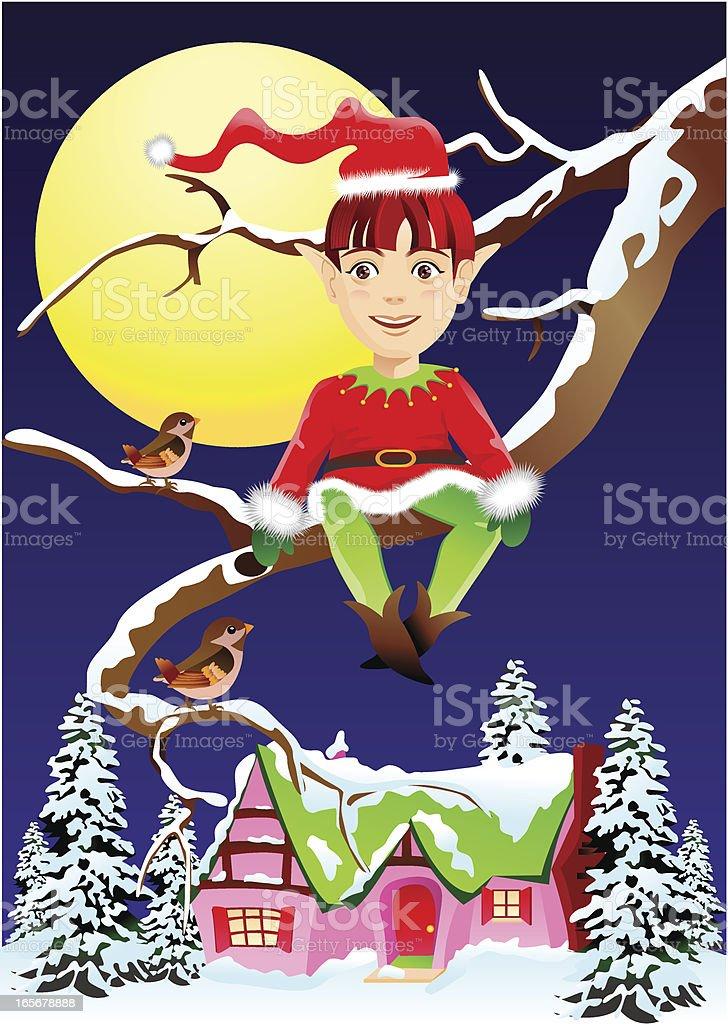 Christmas Elf royalty-free stock vector art