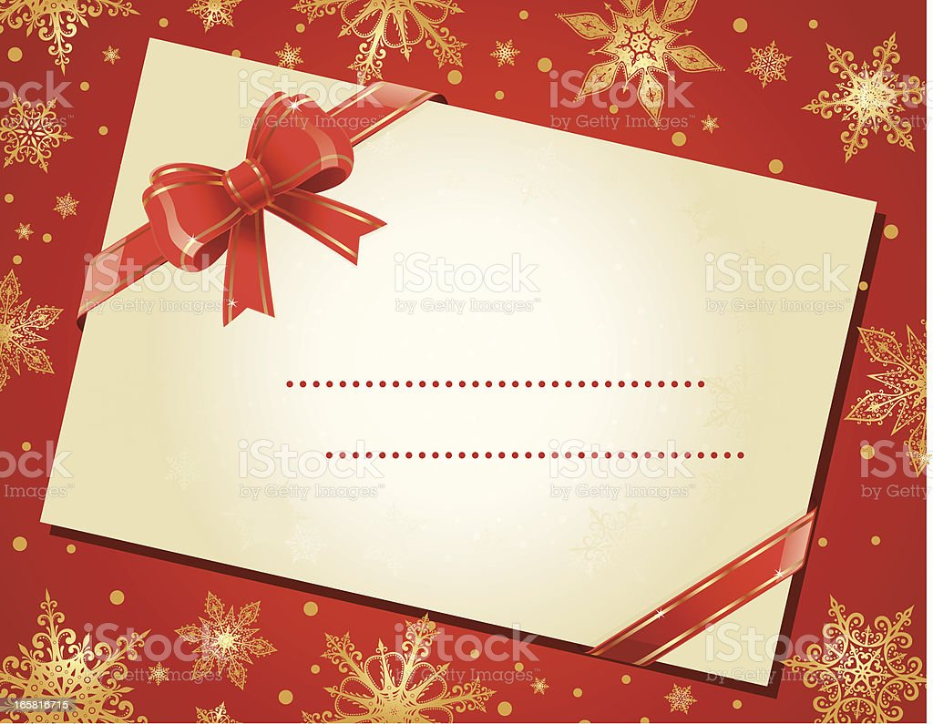 Christmas envelope royalty-free stock vector art