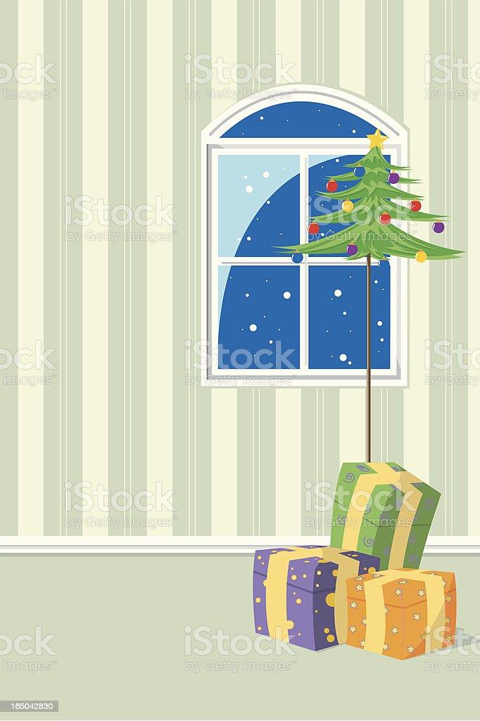 Christmas eve vector art illustration