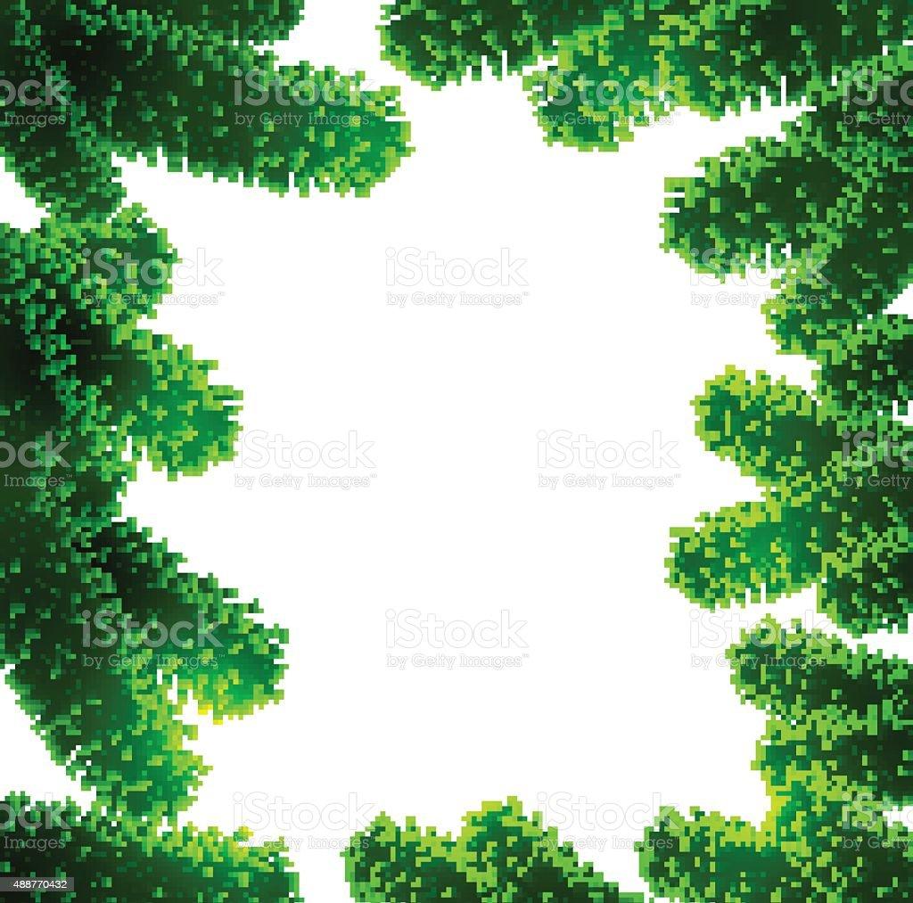 Christmas fir tree branches vector art illustration