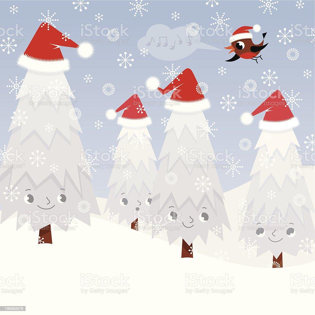 Christmas Fir Trees. royalty-free stock vector art