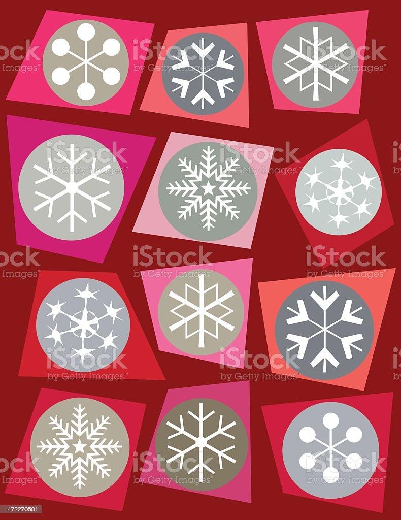 Christmas Flakes vector art illustration