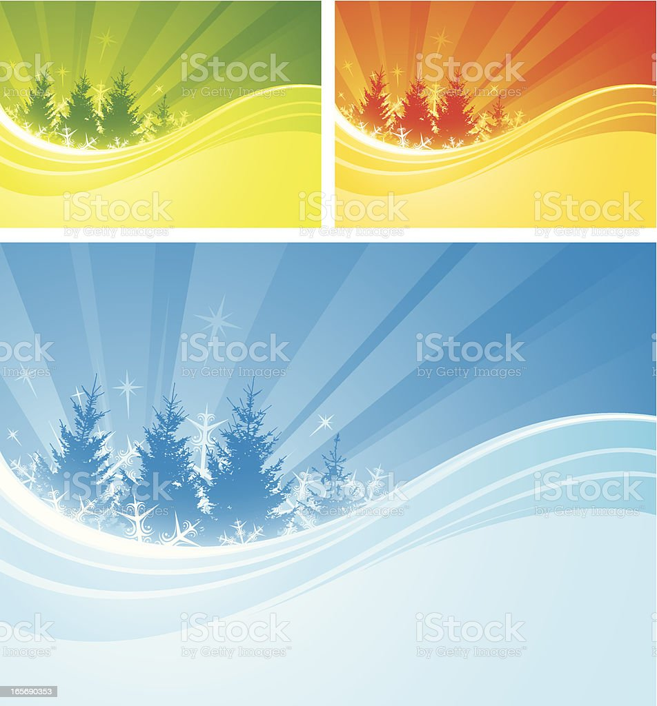 Christmas flow royalty-free stock vector art