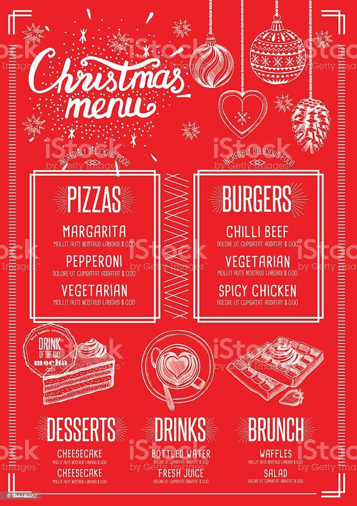 Invitation restaurant menu invitationswedd christmas food menu happy new year party invitation restaurant stock stopboris Image collections