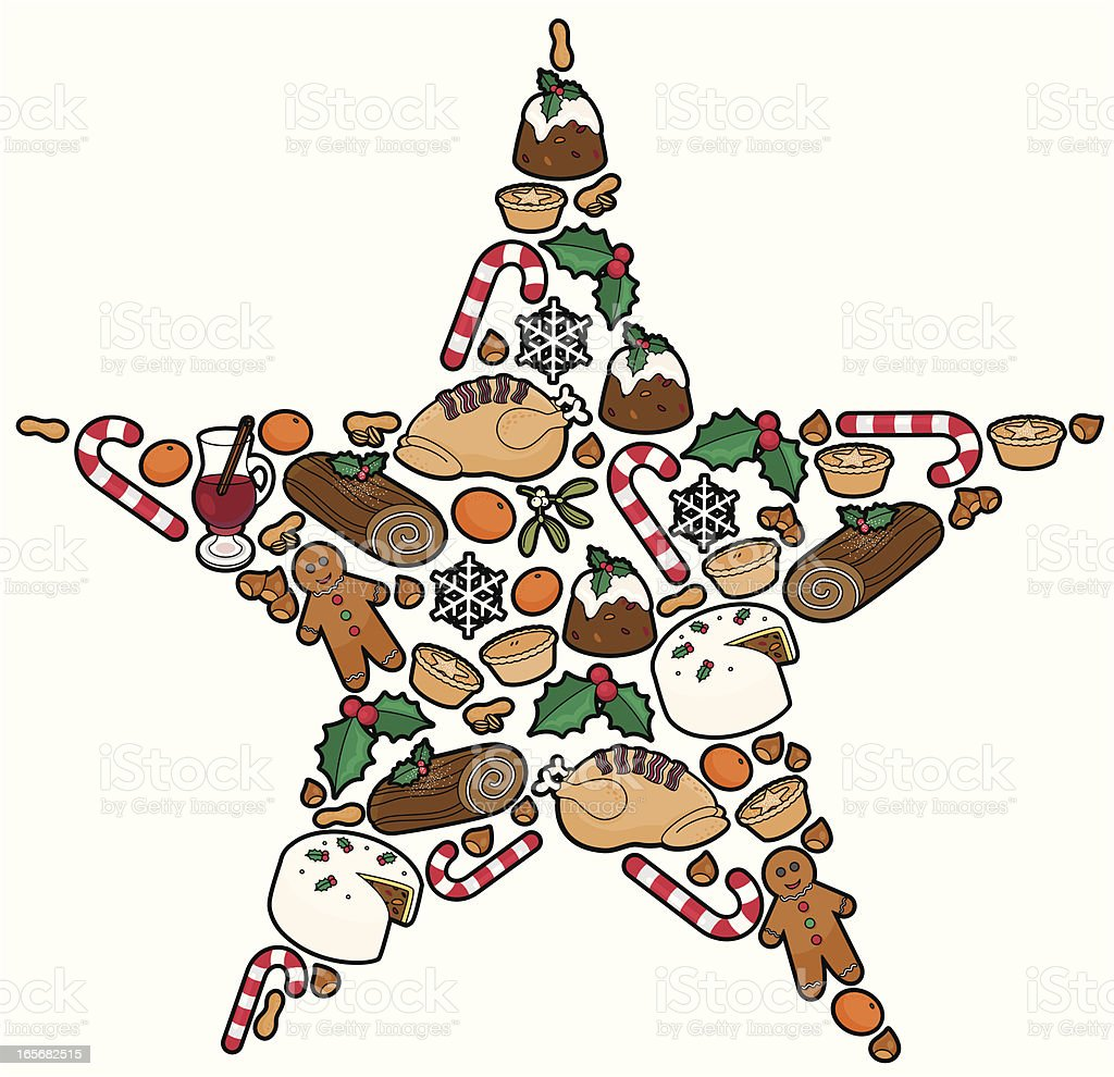 Christmas Food royalty-free stock vector art