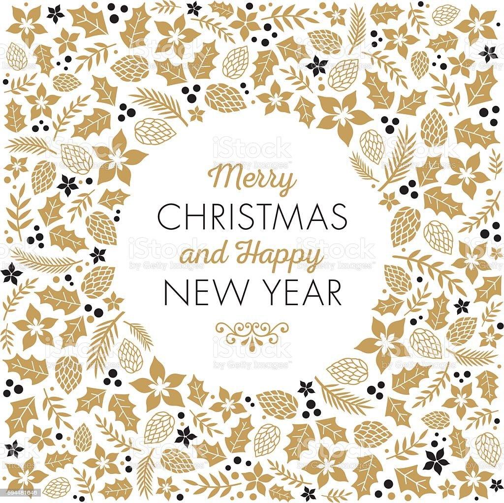 Christmas Frame - Illustration vector art illustration