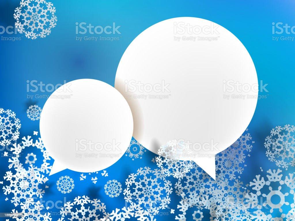 Christmas frame on blue. + EPS10 royalty-free stock vector art
