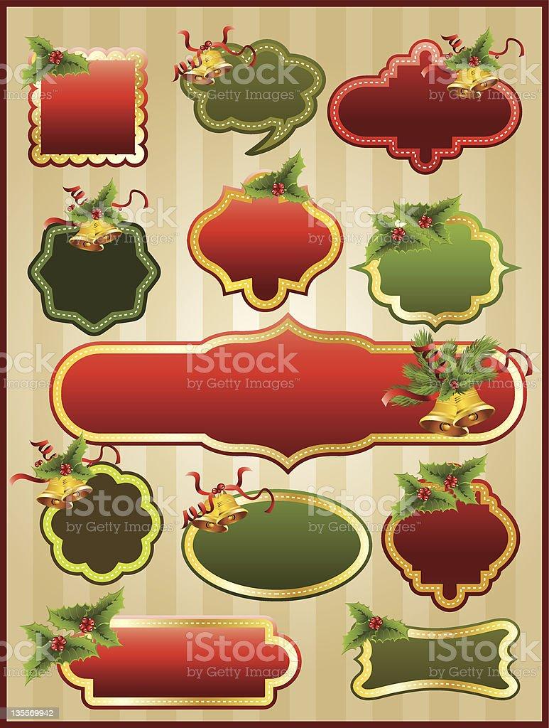 Christmas frame set royalty-free stock vector art