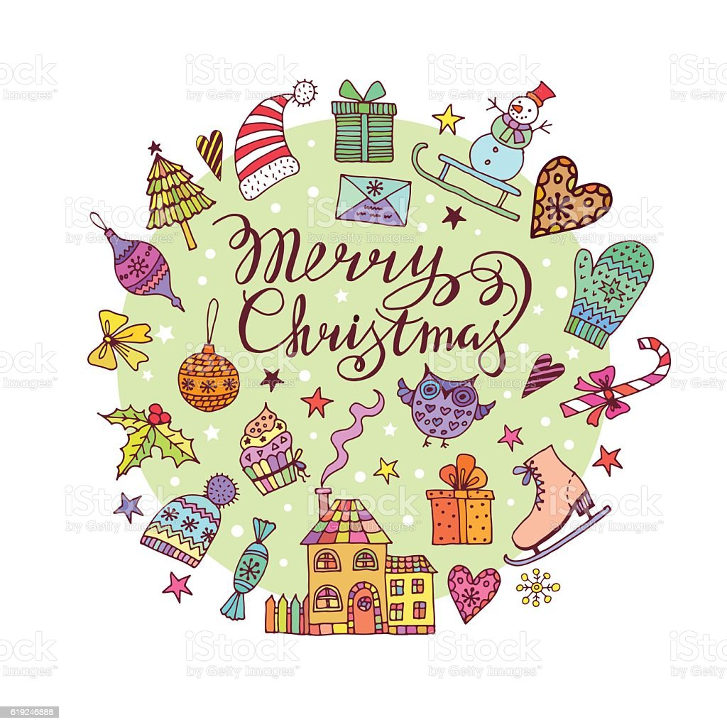 Christmas frame template card. Vector background royalty-free stock vector art