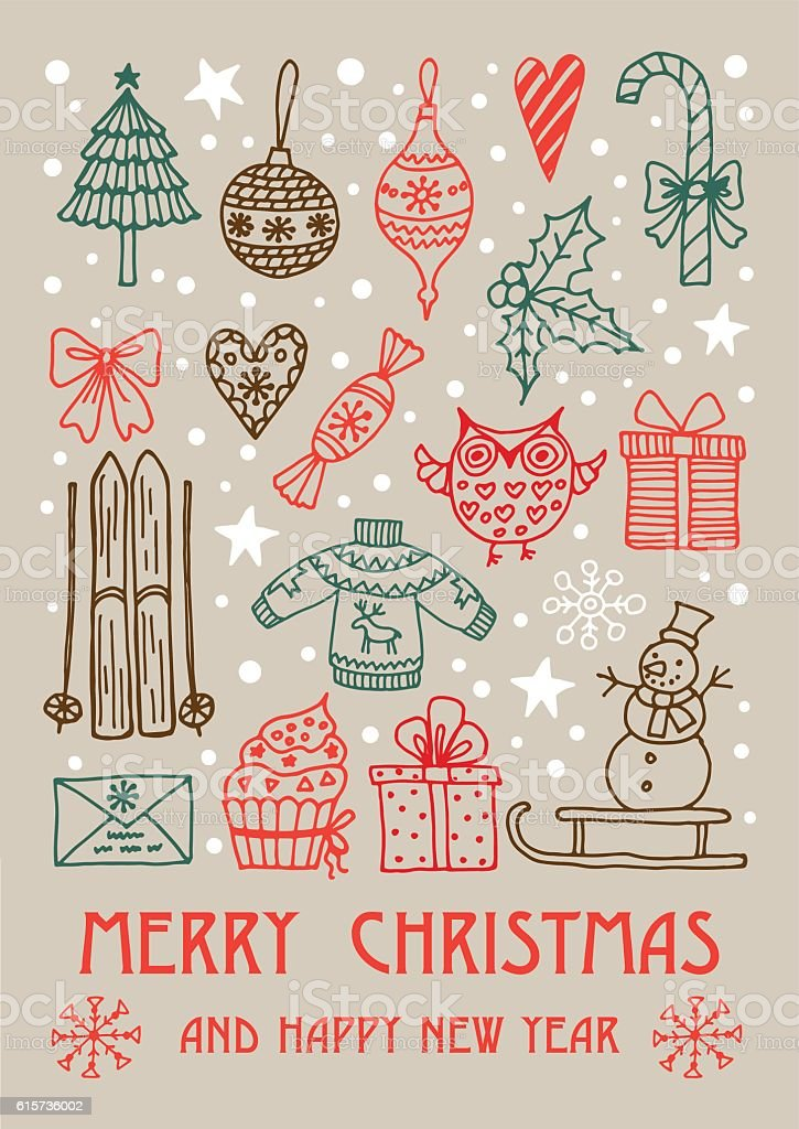 Christmas frame template card. royalty-free stock vector art