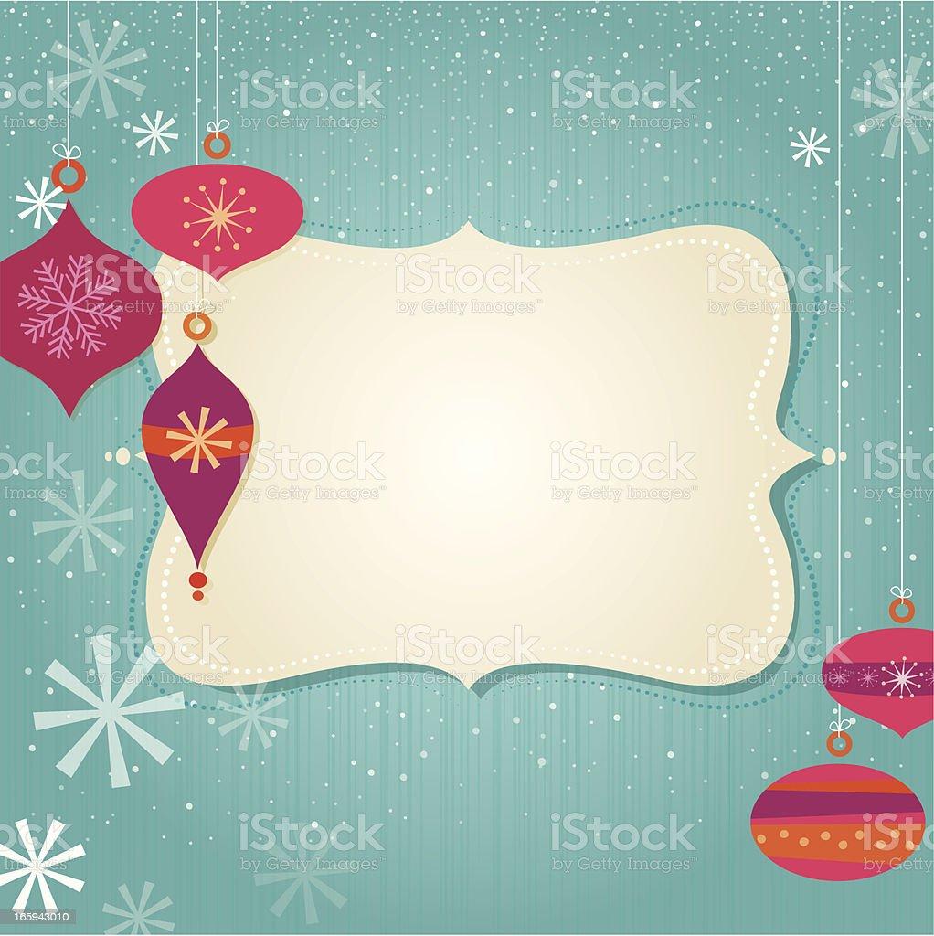 Christmas frame royalty-free stock vector art