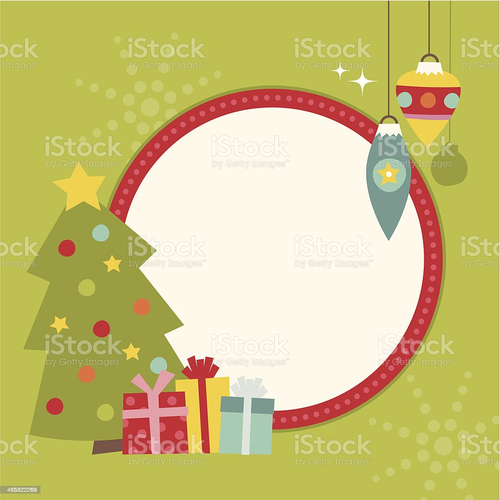 christmas frame royalty-free stock vector art