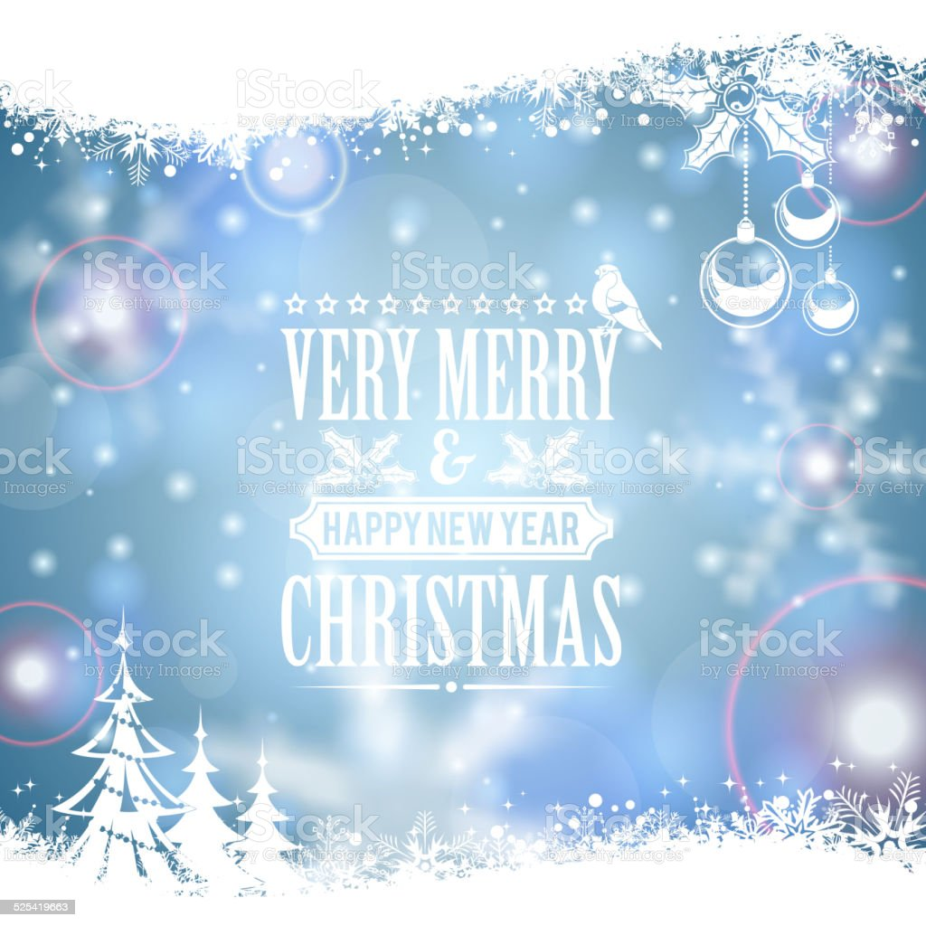 Christmas Frame vector art illustration