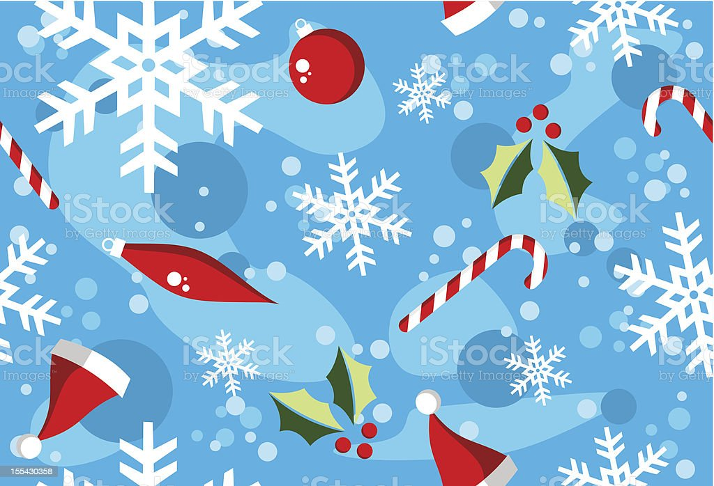 Christmas fresh seamless pattern royalty-free stock vector art