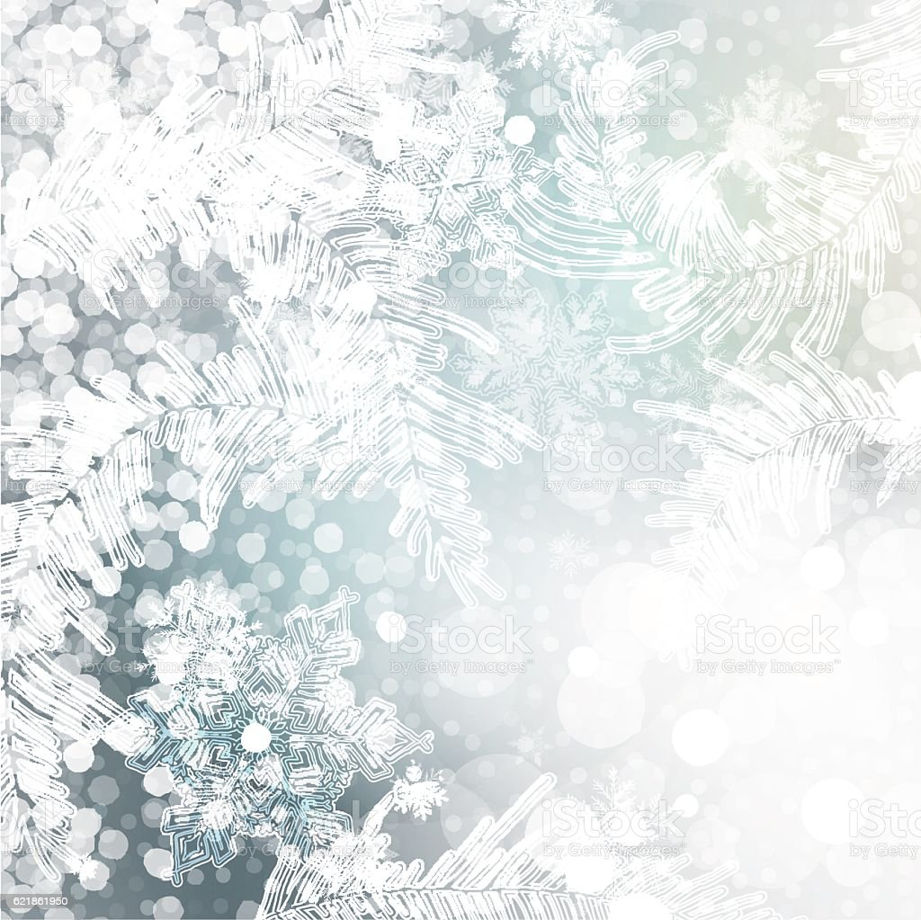 christmas frozen background vector art illustration