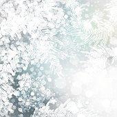 christmas frozen background