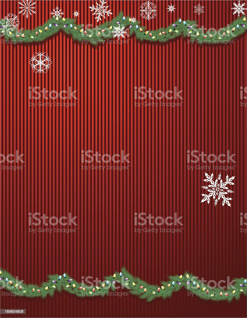 Christmas Garland and Snowflakes - Background royalty-free stock vector art