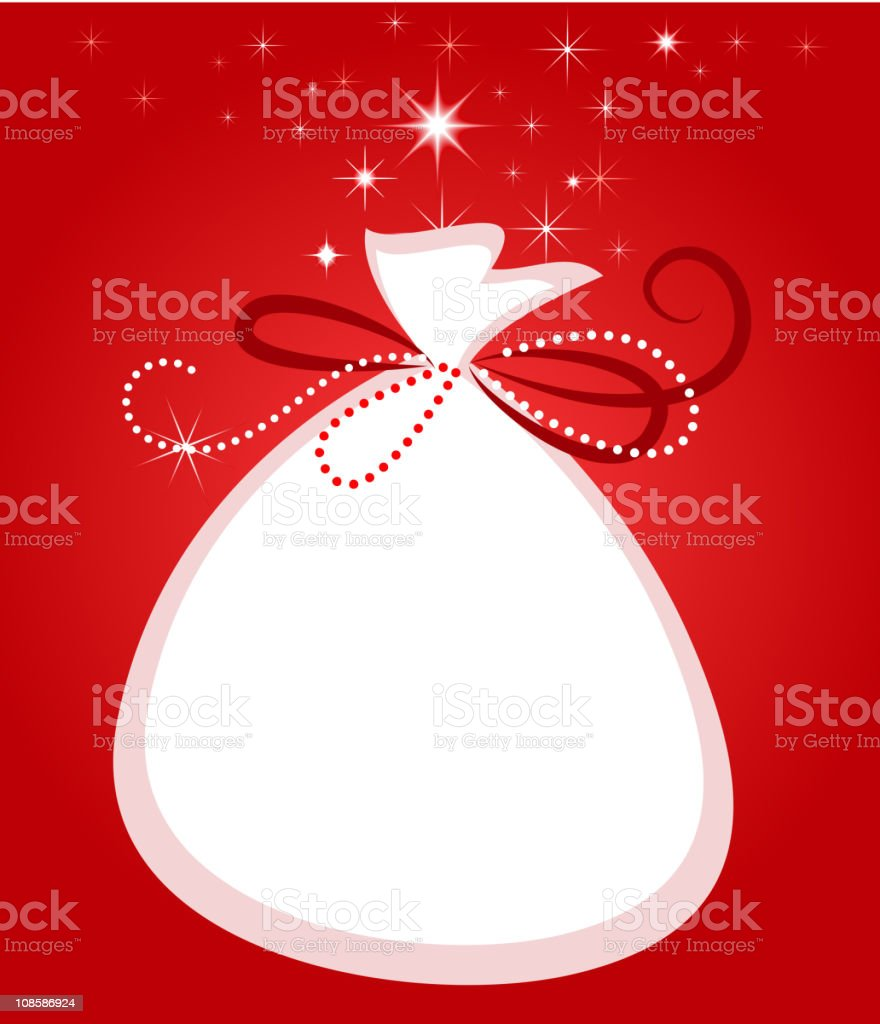 Christmas gift bag background vector art illustration