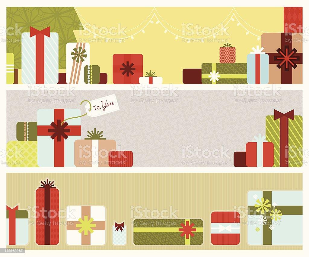 Christmas Gift Banners royalty-free stock vector art