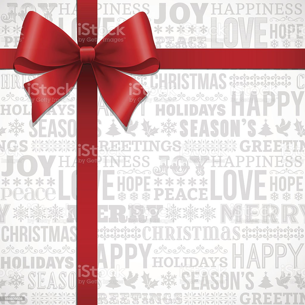Christmas Gift Bow royalty-free stock vector art
