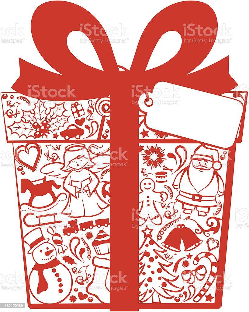 Christmas gift box royalty-free stock vector art