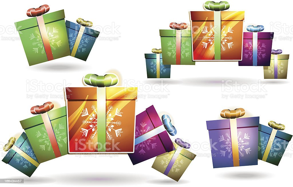 Christmas gift box royalty-free stock vector art