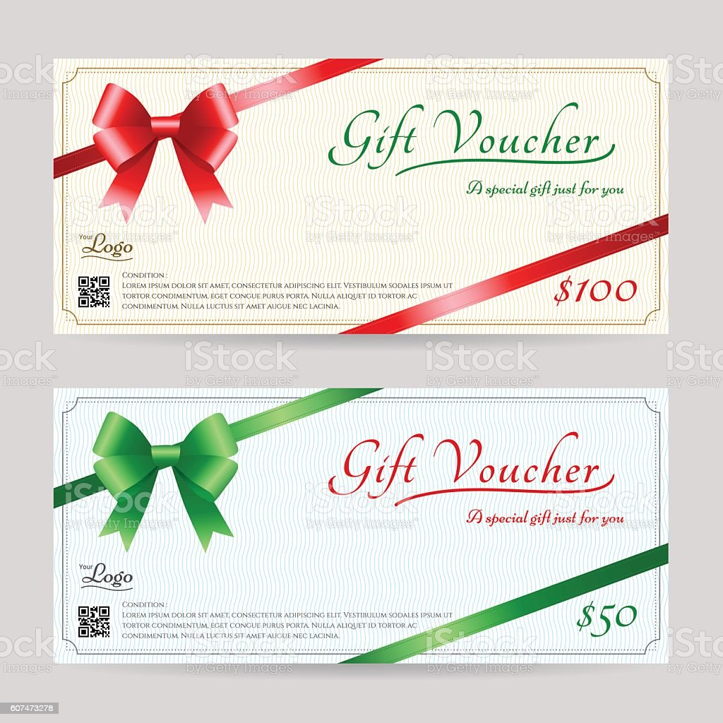 christmas gift card or gift voucher template corner ribbon christmas gift card or gift voucher template corner ribbon royalty stock vector art