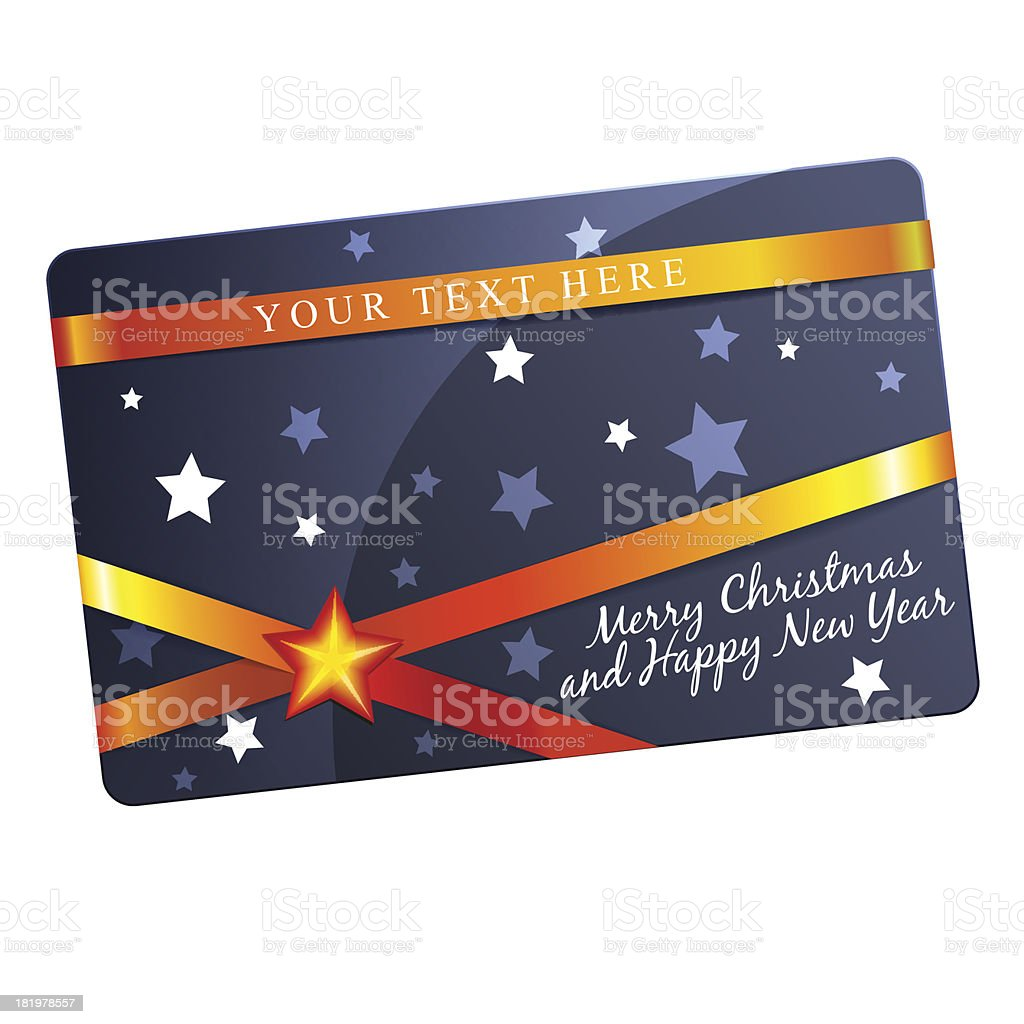 Christmas gift card template royalty-free stock vector art