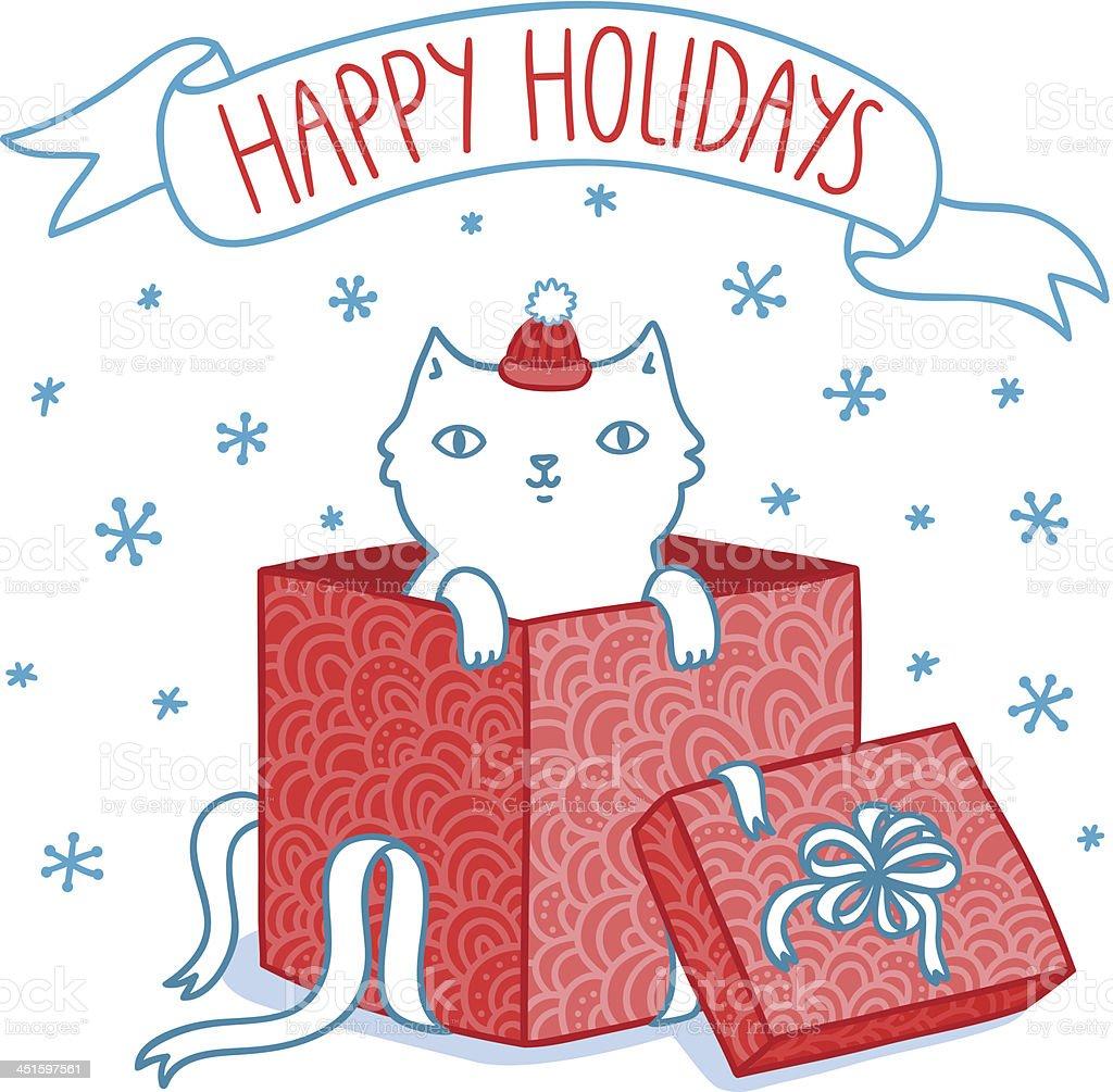 Christmas gift vector art illustration