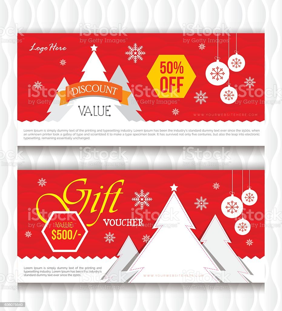 christmas gift voucher template stock vector art 636075540 istock christmas gift voucher template royalty stock vector art