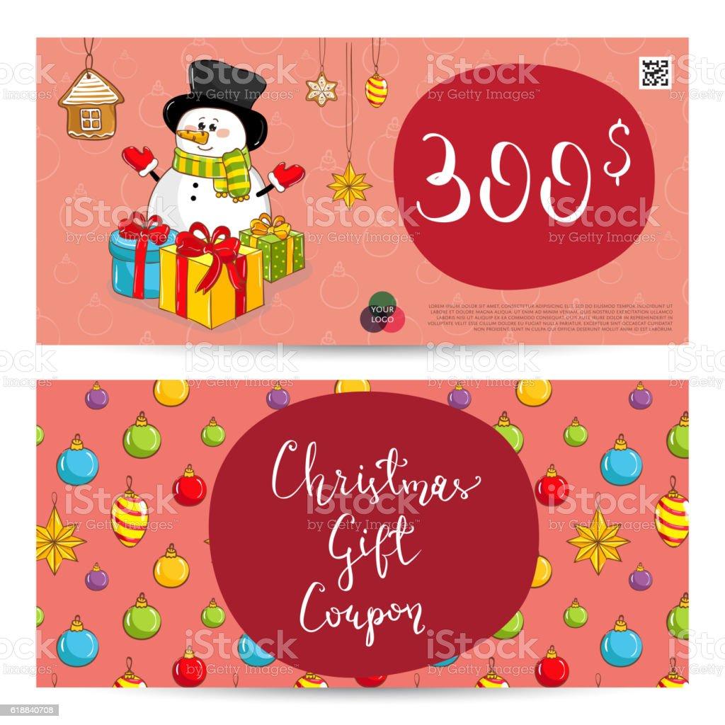 christmas gift voucher prepaid sum template 일러스트 1 크레딧