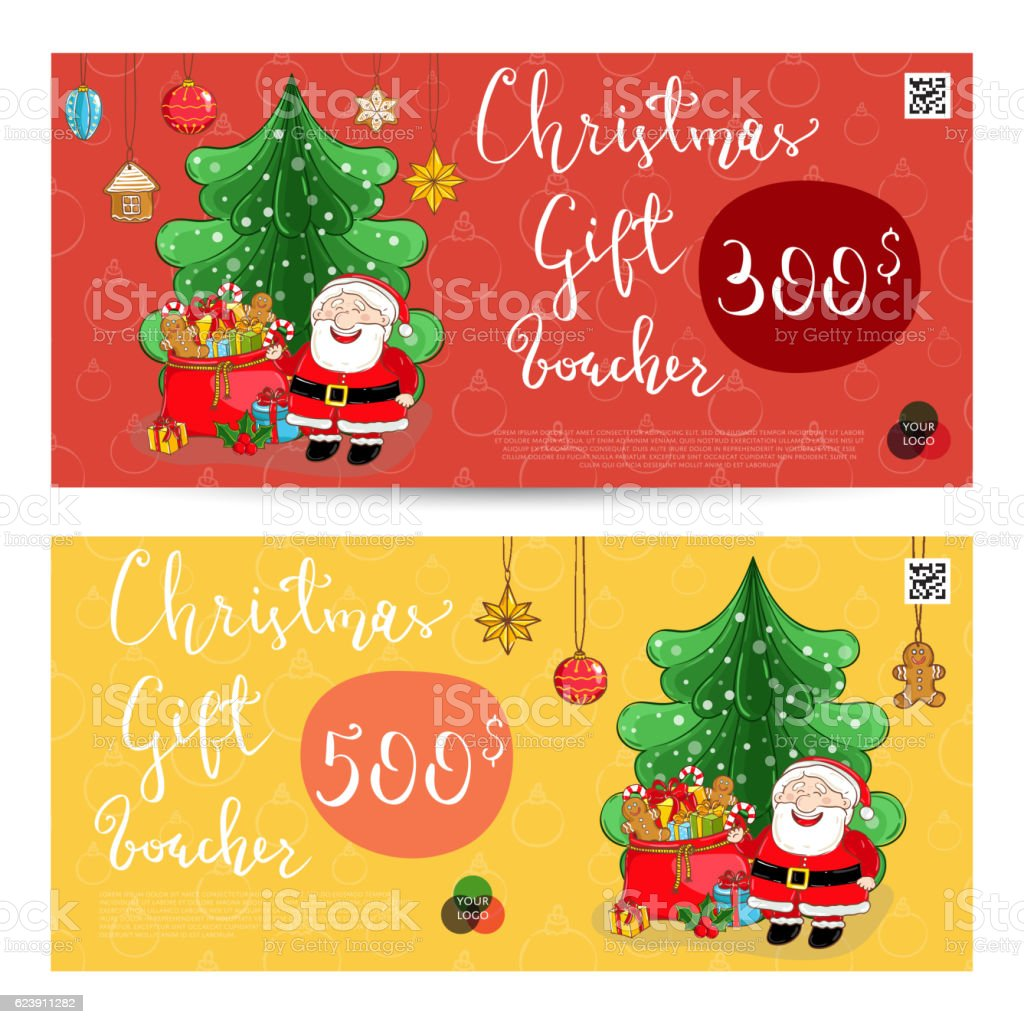 christmas gift voucher prepaid sum template stock vector art christmas gift voucher prepaid sum template royalty stock vector art