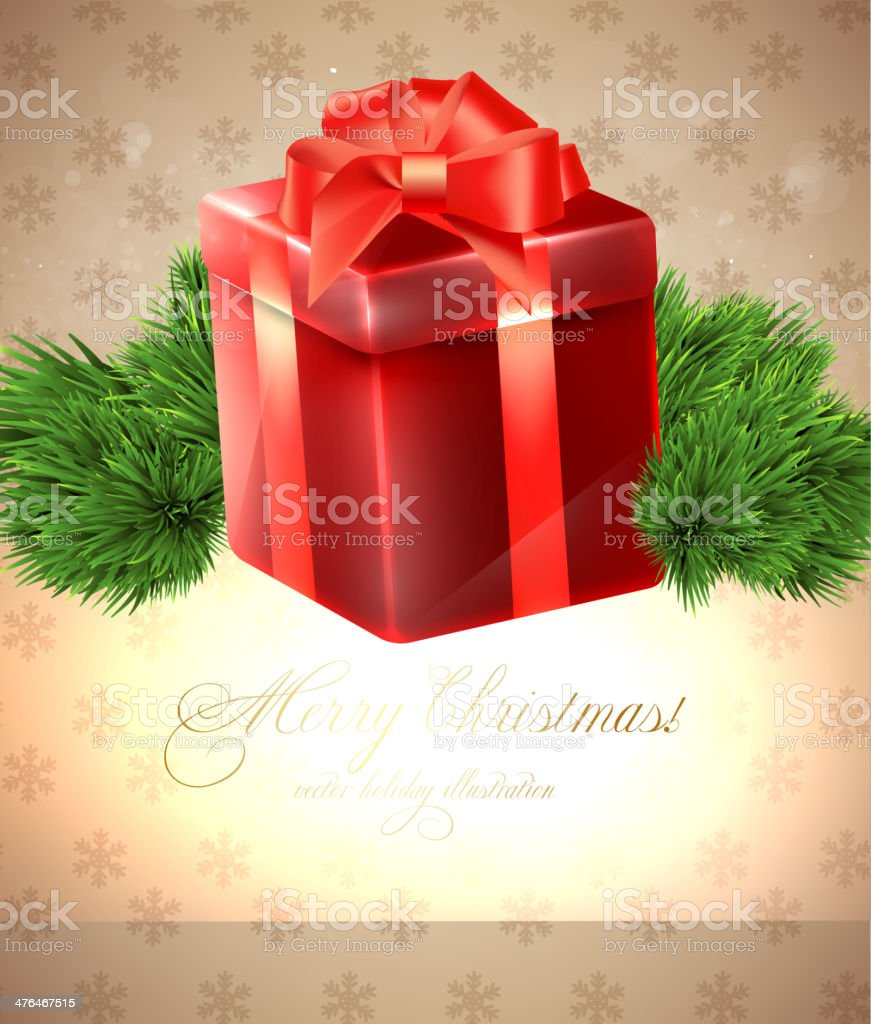 Christmas Gift With Copy Space royalty-free stock vector art