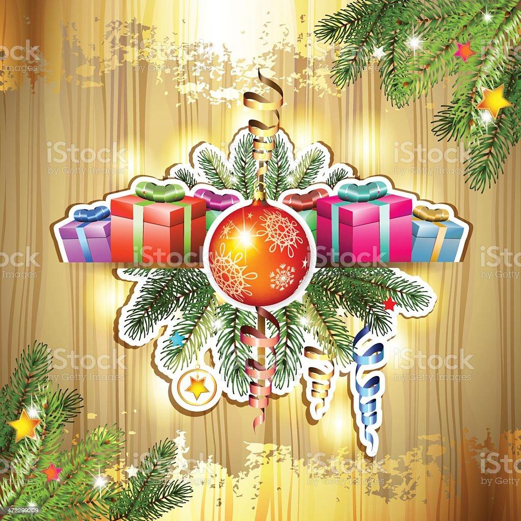 Christmas gifts and balls royalty-free stock vector art