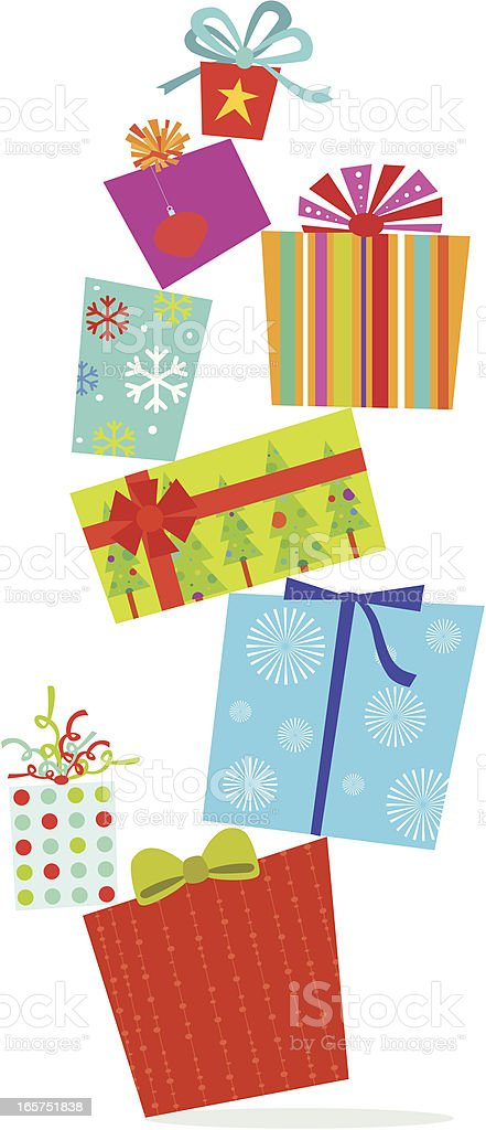 Christmas Gifts vector art illustration
