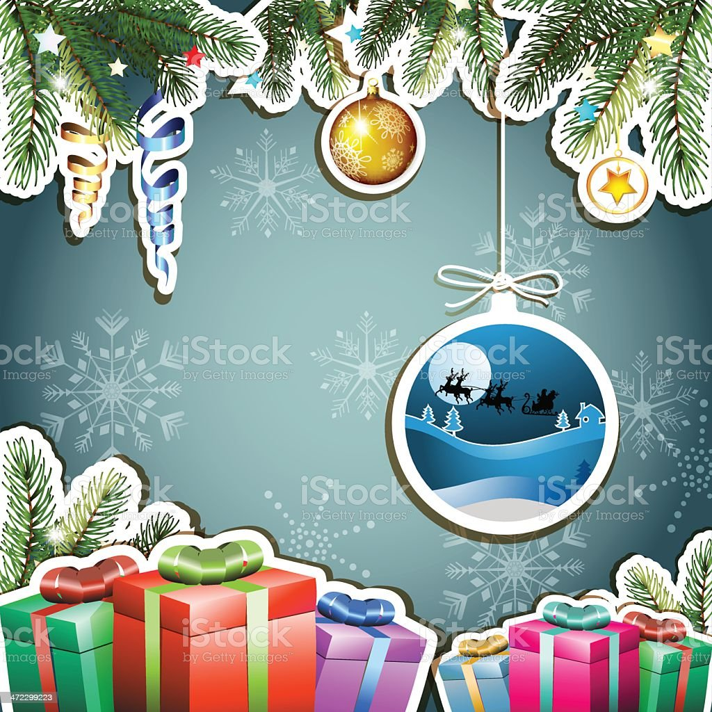 Christmas gifts royalty-free stock vector art
