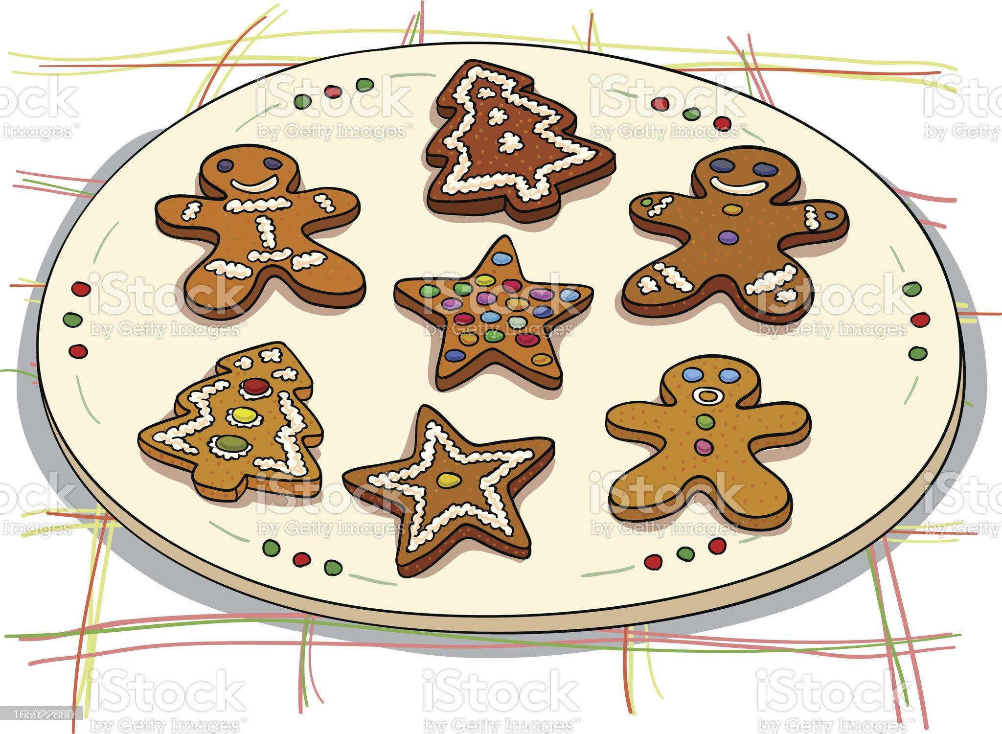 Christmas ginger bread illustration royalty-free stock vector art