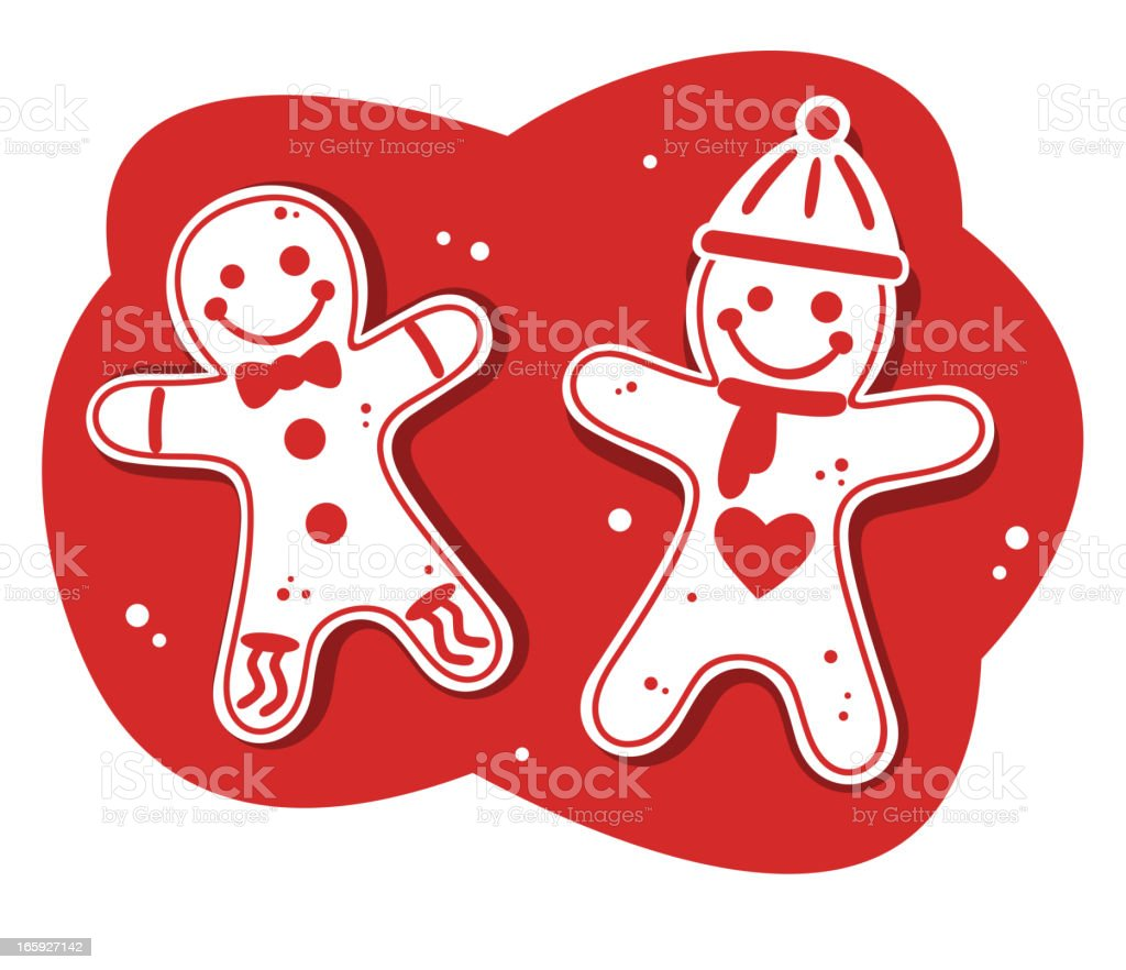 Christmas Gingerbread Cookie Red Design royalty-free stock vector art