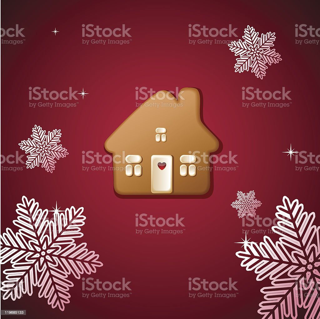 Christmas gingerbread house royalty-free stock vector art